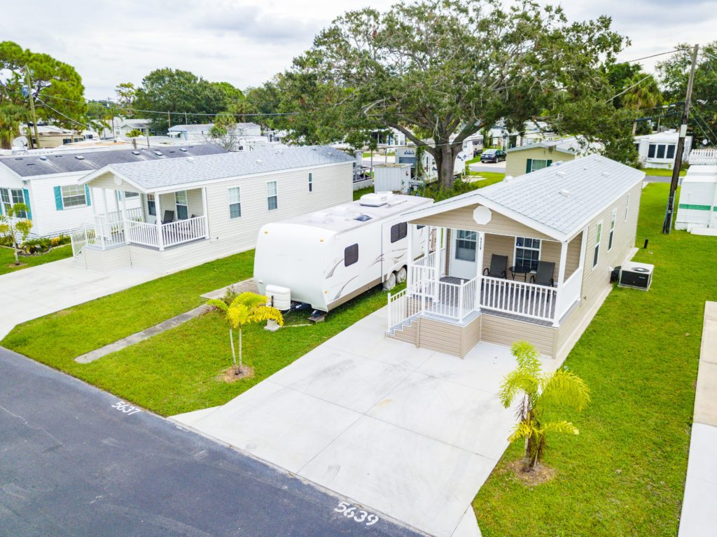 Arbor Terrace RV Resort and Vacation Rentals Elevated View in Bradenton, FL