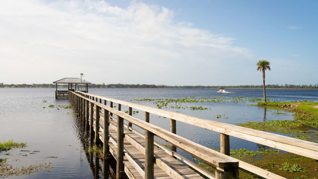 Buttonwood Bay 55+ RV Resort, Rentals and Manufactured Homes Community Fishing Pier in Sebring, FL
