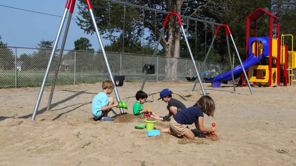 Pickerel Park RV Resort and Campground Swing Set and Playground in Napanee, ON