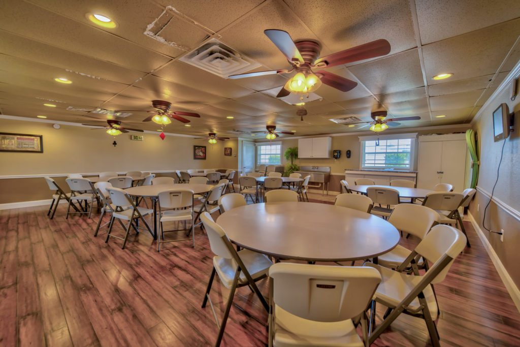 Rainbow 55+ RV Resort, Rentals and Manufactured Homes Community Clubhouse Interior in Frostproof, FL
