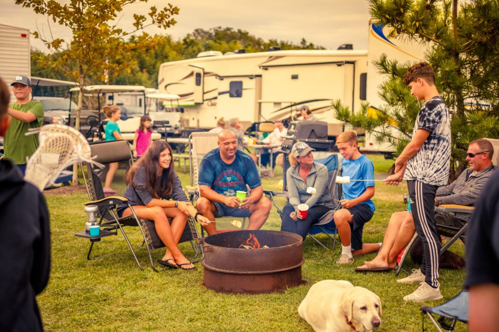 rv sites campfire party
