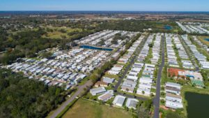 Big Tree 55+ RV Resort and Vacation Rentals Aerial View in Arcadia, FL