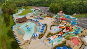 Frontier Town RV Resort and Campground Aerial View in Berlin, MD