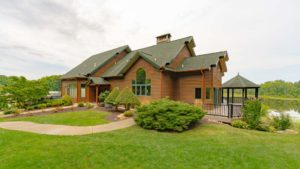 Hidden Ridge RV Resort and Manufactured Homes Community Clubhouse Exterior in Hopkins, MI