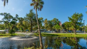 Homosassa River RV Resort and Vacation Rentals Fountain Spray in Homosassa Springs, FL