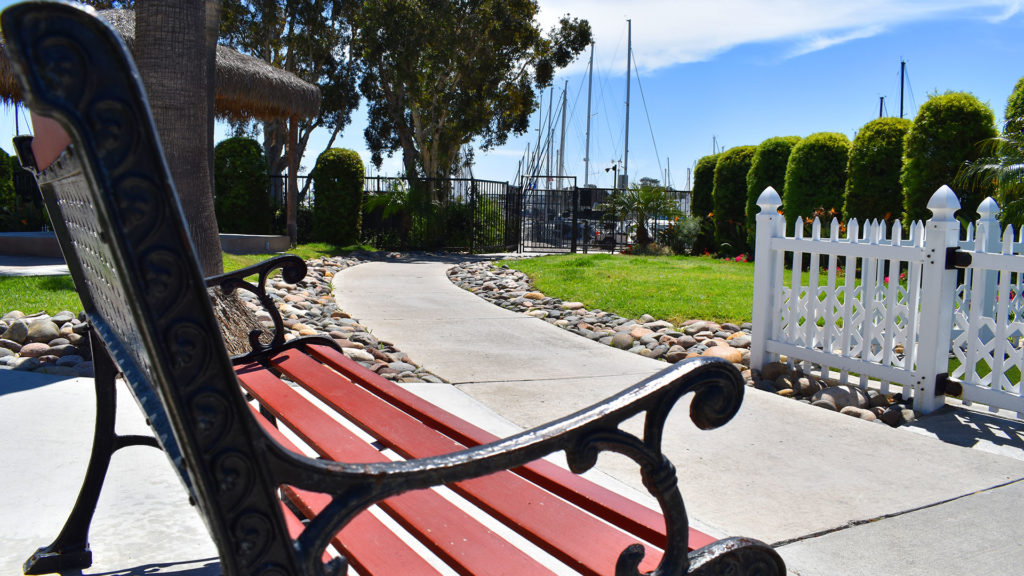 Chula Vista RV Resort park bench