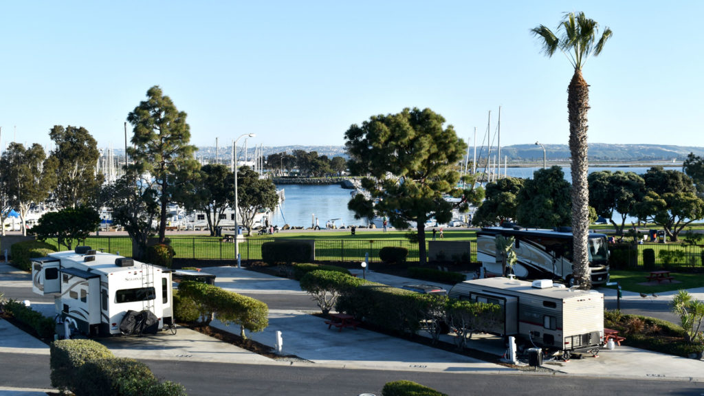 Chula Vista RV Resort Marina Pull Thru Sites in San Diego, CA