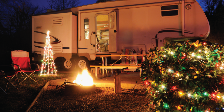 Holiday Decorations on an RV