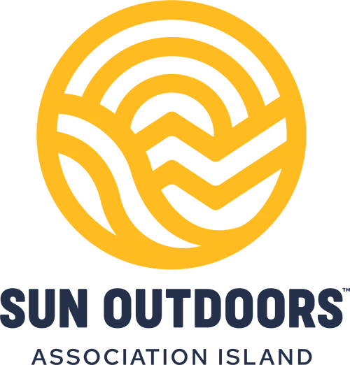 Sun Outdoors Association Island Motel, RV Resort, Vacation Rentals and Campground Logo in Henderson, NY