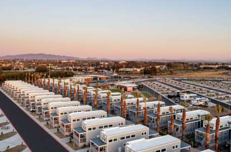 Aerial view of RV spaces