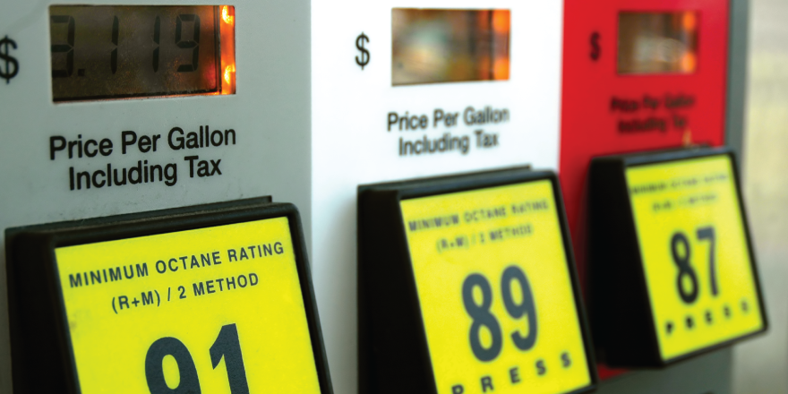 Close Up Shot of Fuel Prices at a Gas Pump